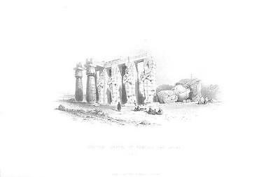 Rameses The Great Memnonium Egypt Old Antique Art Print