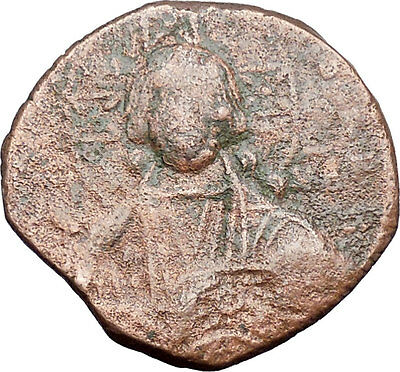 JESUS CHRIST Class A2 Anonymous Ancient 1025AD Byzantine Follis Coin i47720