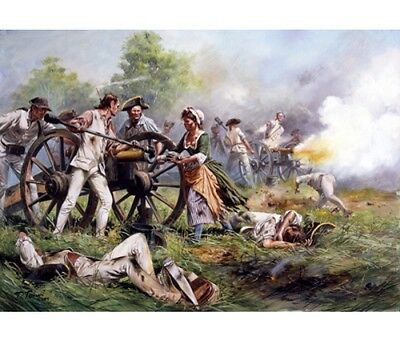 """""""Molly Pitcher, Battle of Monmouth, 1778"""" Don Troiani Revolutionary War Canvas"""