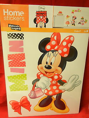Wandtatto Wandsticker Wandbild Aufkleber disney 55x35 cm Motic Minnie Mouse