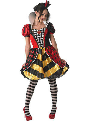Adult Queen Of Hearts Outfit Fancy Dress Costume Storybook Ladies Book Week Day