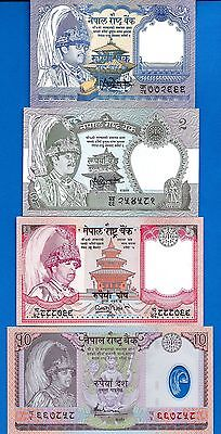 Nepal SET #5 P-37,29,46,54 Uncirculated Four (4) Banknote FREE SHIPPING