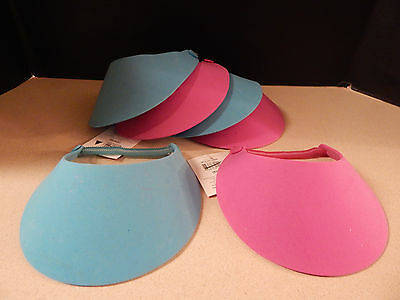 Foam Visors Caps LOT of 6 for Craft Activity - Decorate & Wear! pink blue