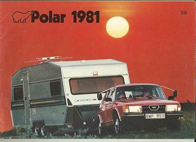 Polar 445, 445T, 475, 535, 540 Gl, 570 And 590Gl Caravan Sales Brochure 1991
