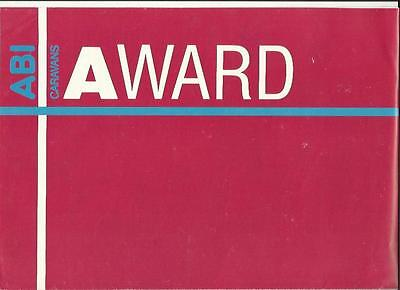 Abi Award Dawnstar,daystar,globestar,transtar+More Caravan Brochure 1987 +Prices