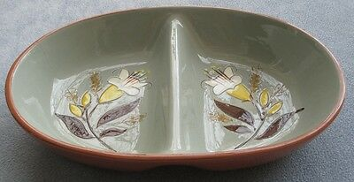 Stangl Golden Harvest Divided Oval Vegetable Serving Bowl