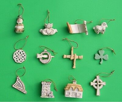 LENOX LUCK of the IRISH 12 miniature Tree Ornaments set NEWnBOX St. Patricks Day