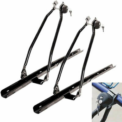 2x Car Roof Bike Rack Locking Cycle Carrier Bicycle Upright Mounted Universal