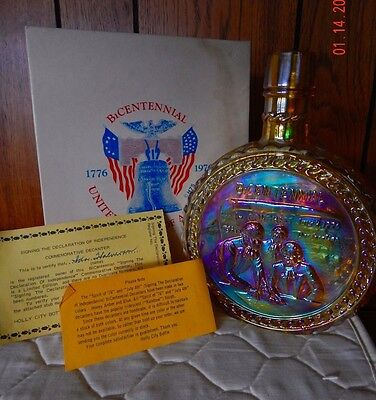 Wheaton Ind Bottle Bicentennial 1776-1976 Signing of Declaration of Independence