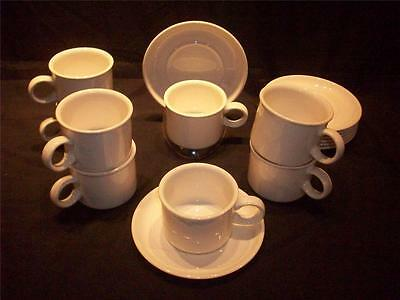 Wedgewood Stonehenge Midwinter Stoneware 16 pc. Cup and Saucer Sets England