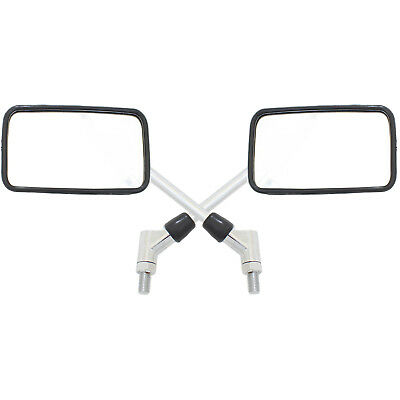 Ryde Large Chrome 10Mm Rectangular Motorcycle Mirrors Bike/Motorbike E-Marked
