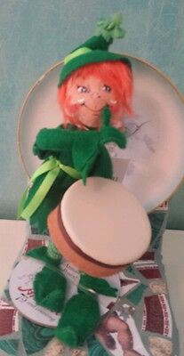 """NWT Annalee Posable Doll St Patrick's Day 9"""" Drummin On Elf St Patty's Day"""