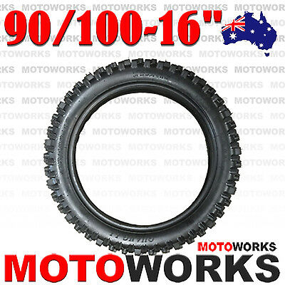 "90/100 - 16"" inch Rear Back Knobby Tyre Tire PIT PRO BIGFOOT Trail Dirt Bike"