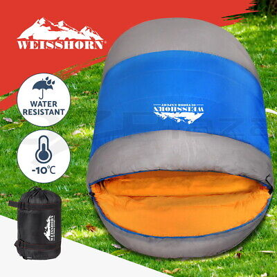 WEISSHORN Camping Sleeping Bag -15°C Extra Large Hiking Carry Bag 220X100CM Navy