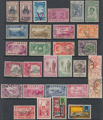 Ethiopia 1941-62 hi val selection 29 diff stamps cv $76