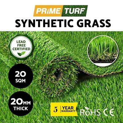 20 SQM Artificial Grass Synthetic Turf Plastic Plant Fake Lawn Flooring 20MM