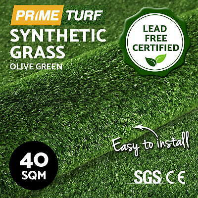 40 SQM Synthetic Grass Artificial Turf Plastic Olive Plant Lawn Flooring 10mm