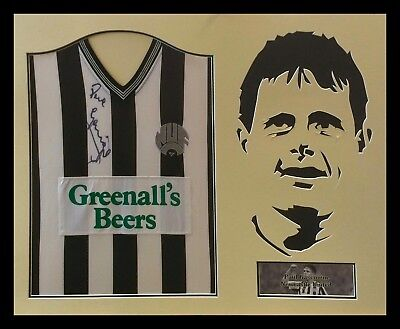 Framed Paul Gascoigne Signed Newcastle United Football Shirt Coa Proof Gazza