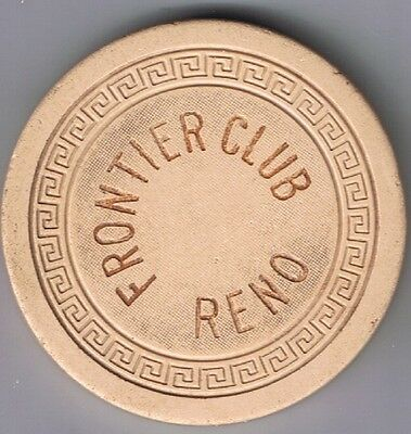Frontier Club 10¢ Fractional Casino Chip Small Key Mold Reno  Nevada 1950