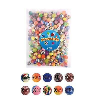 Pack of 250 Assorted Bouncy Balls 27mm - Gift Favours Kids Children Fun Bounce