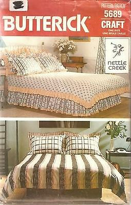 Butterick 5689 Bed Coverings Home Decor Pattern UNCUT