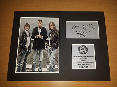 Top Gear - Clarkson Hammond And May - Signed Autograph Display Mount TG2