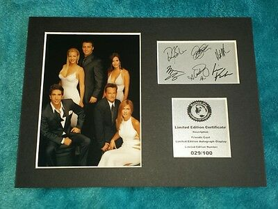 Friends Cast Signed Autograph Display Mount FR2