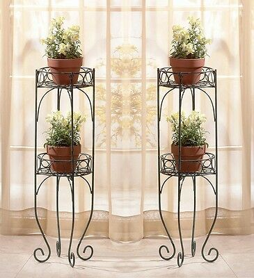 TWO TIER METAL PLANT STANDS - Set of 2 NEW NIB