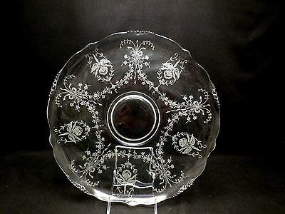 "Heisey ORCHID 14"" Torte Sandwich Tray~Rolled Edge~#1519 Waverly~"