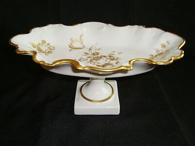 "Vintage LIMOGES FRANCE Footed Candy / Compote Dish 8 3/4 "" wide."