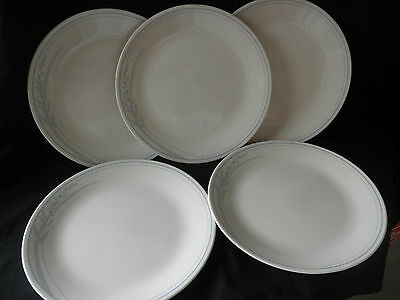 """5 Corelle Corning  First of Spring  Blue Lily Dinner Plates 10 1/4"""""""