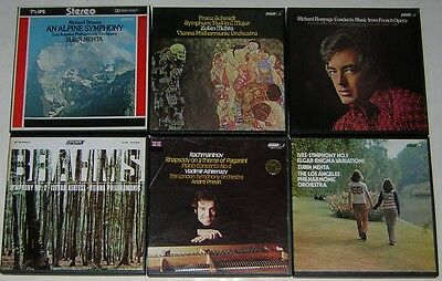 6 London Dolby Classical Music Reel To Reel Tapes Play Tested