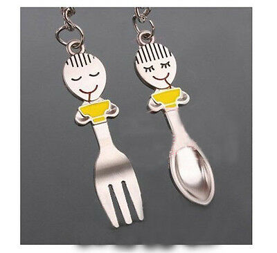 A couple keychain Fashion Metal couples keychains Key Ring for lover F075