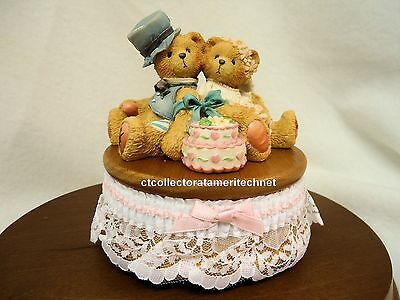Cherished Teddies Musical Bride & Groom Wedding NIB
