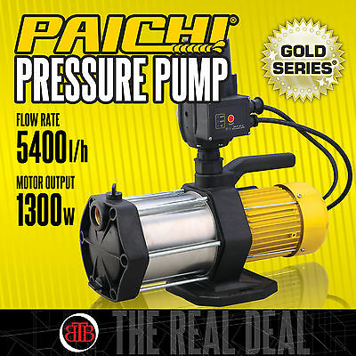 PAICHI High Pressure Water Tank Pump Garden Brand New 5400L/H 1300W Electric 240