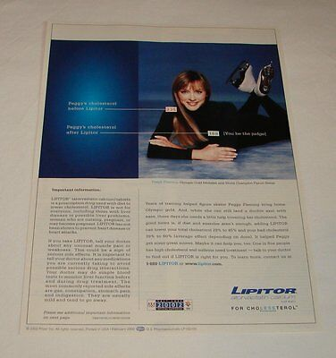2002 Lipitor ad page ~ PEGGY FLEMING, Figure Skating