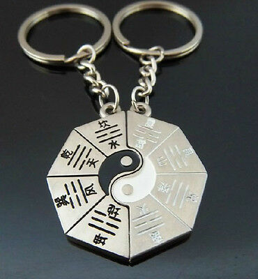 A couple keychain Fashion Metal couples keychains Key Ring for lover F267