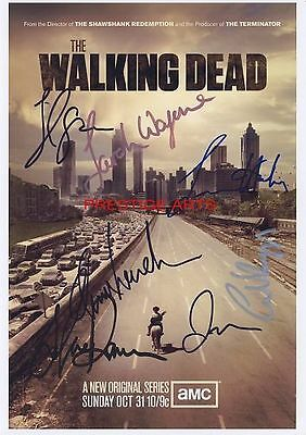THE WALKING DEAD MOVIE POSTER AUTOGRAPH PRINT  12X8