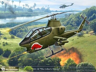 ART PRINT: AH-1 Cobra in the Grass - Print by Shepherd