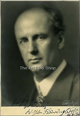 EXCELLENT WILHELM FURTWANGLER SIGNED PHOTO PREPRINT