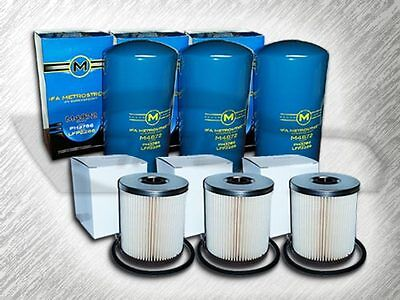 7.3L Turbo Diesel 3 Oil Filters & 3 Fuel Filter (No Cap) For 94-97 Ford F Series