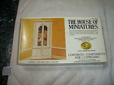 House of Miniatures #40041 Corner Cupboard  - Cellophane Removed