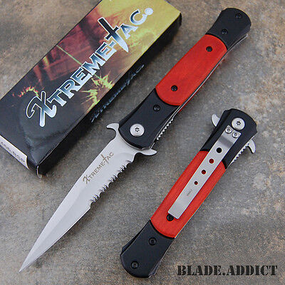 """8"""" Chicago Ice Pick Stiletto Spring Assisted Open Tactical Pocket Knife 466PSP-H"""