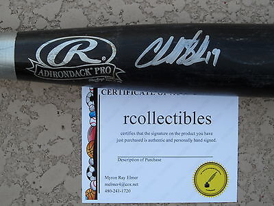 6a70ccb2deb ROCKIES CHARLIE BLACKMON Signed Louisville Slugger Game Used Bat COA ...