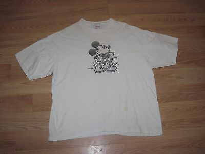 Walt Disney Store Mickey Mouse Pencil Sketch Size XL T-Shirt/Free Shipping!