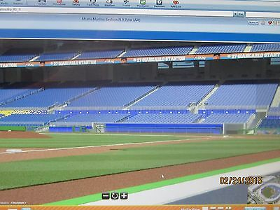 2 Or 4 Front Row All Inclusive Diamond Club Tickets Nationals @ Marlins 7/28