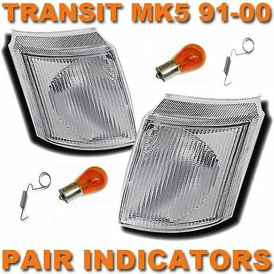 Ford Transit Mk4 & 5 1991-2000 Front Indicators Clear 1 Pair O/s & N/s
