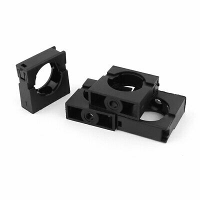 4pcs Black Fixed Mount Pipe Clip Bracket Clamp for 28.5mm Dia Corrugated Conduit