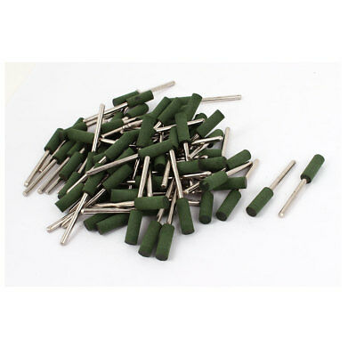 3mm Shank 6mm x 17mm Cylindrical Head Rubber Grinding Mounted Point 100 Pcs
