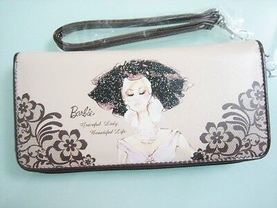 Original Barbie Clutch Zip Around Long Wallet W/ Hand Strap ~NEW Free Shipping
